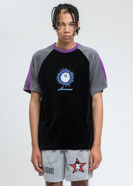 PLEASURES Grime Velour T-Shirt - Black
