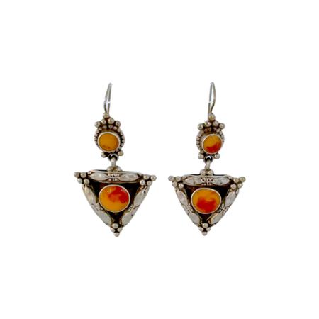 Vintage Moroccan Earrings - Sterling Silver