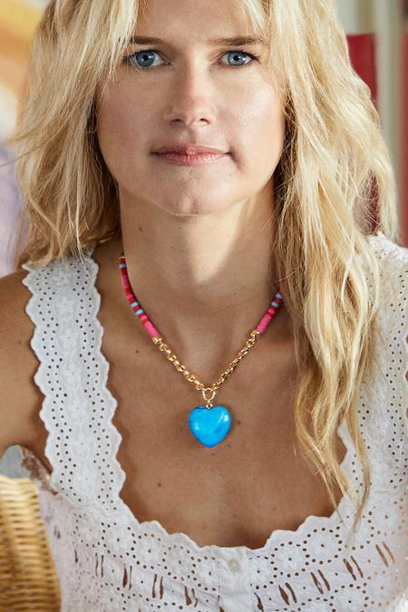 Mignonne Gavigan Raeni Necklace - Blue/Red