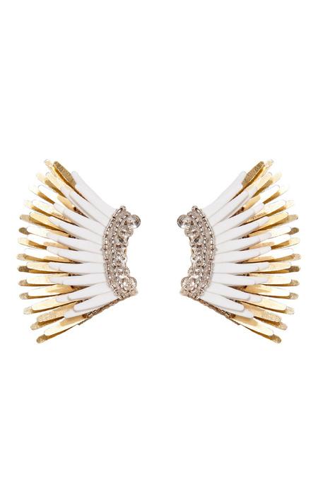 Mignonne Gavigan Mini Madeline Earring - White/Gold
