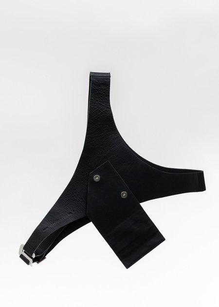 Heliot Emil Leather Harness Card Holder - Black