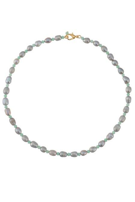Talis Chains Freshwater Pearl Choker - Grey