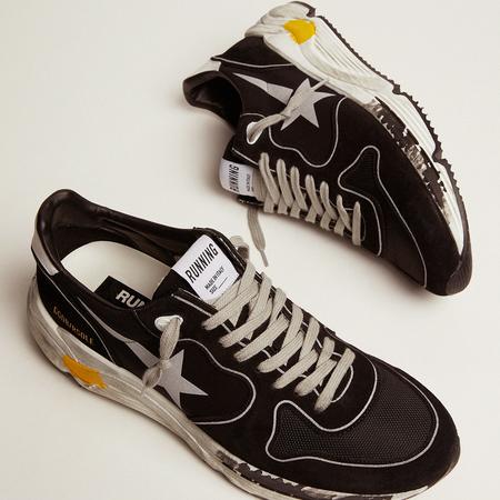 Golden Goose Running Sole Silver Star Men GMF00126.F000326.90178 SNEAKERS - Black
