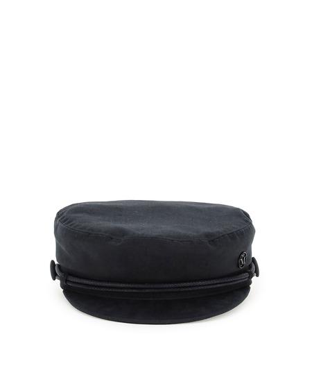 Maison Michel New Abby Basque fabric hat - black