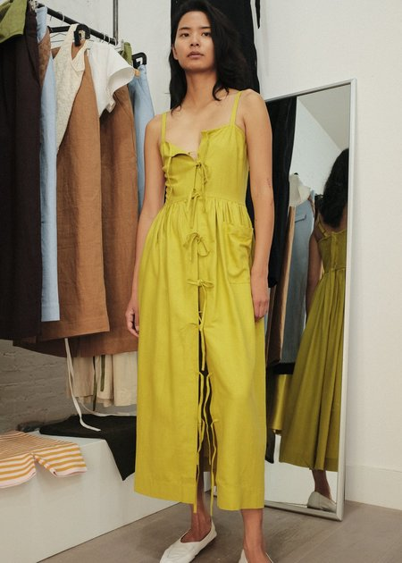 Ajaie Alaie Candor Dress - Chartreuse