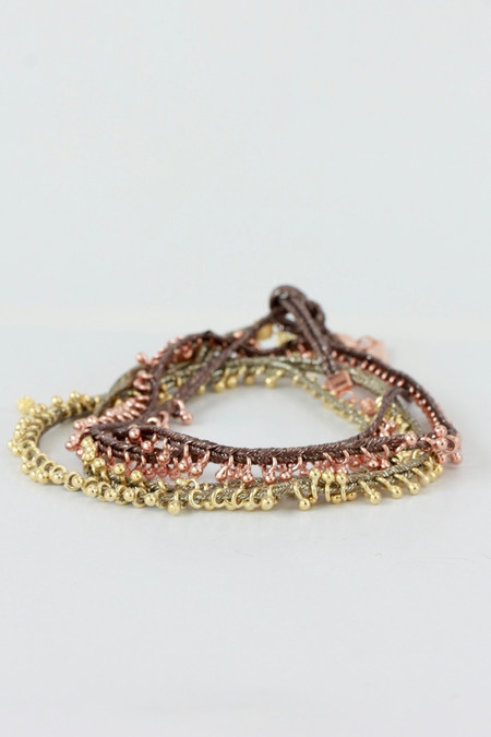 Marie Laure Chamorel Ribbon Bracelet in gold