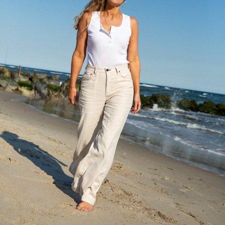 ASKKNY wide Leg Khaki pants - Linen