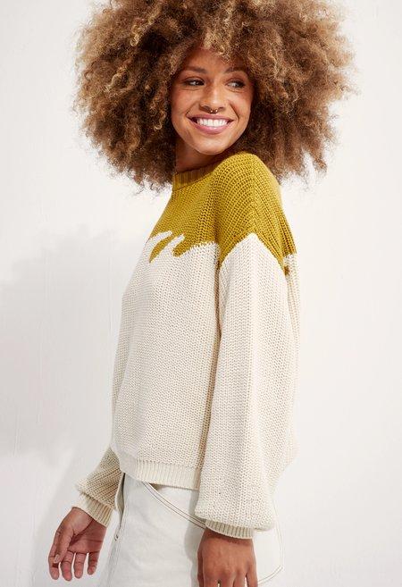 Back Beat Co. Organic Cotton Wave Sweater