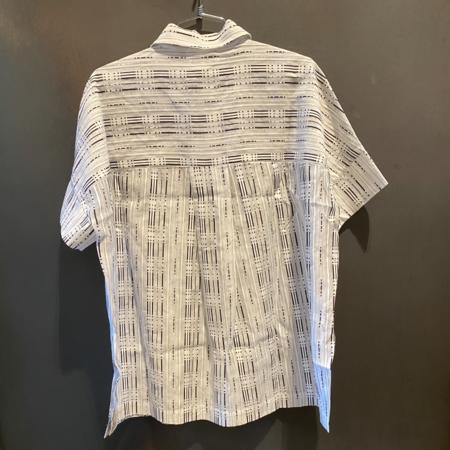 Just Female Note Shirt - White/Black Stripe