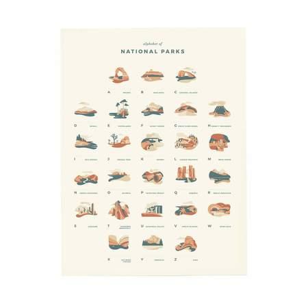 Letterfolk National Parks Alphabet Print
