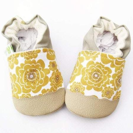 Little Pitterpat - Organic Vegan Mumsy in Gold with Tan