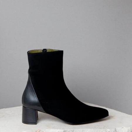 Lou simone Boot - Black Suede