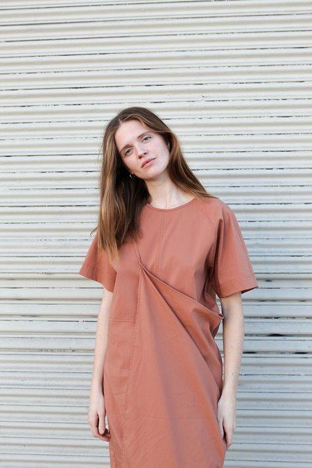 Mijeong Park Wrap Dress - Dusty Orange