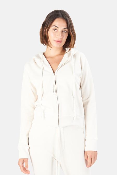 Nili Lotan Women's Callie Zip Up Hoodie Sweater - Chalk