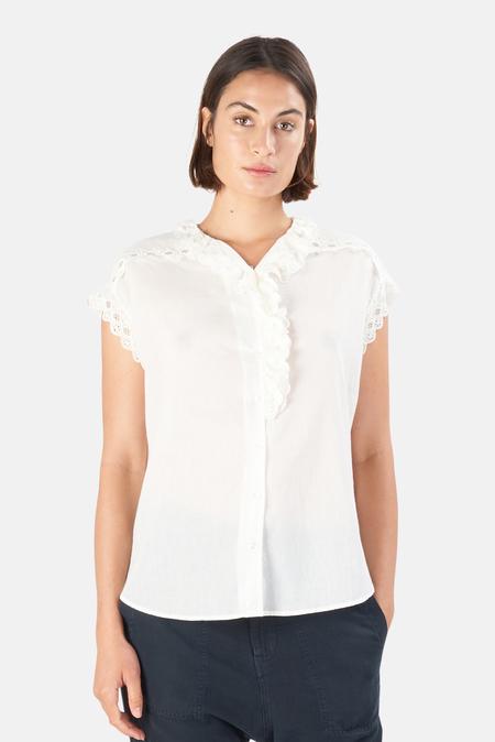 Nili Lotan Women's Leanne Lace Shirt - Ivory