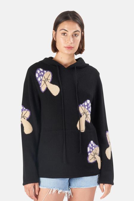 Harden Multi Mushroom Hoodie Sweater - Black/Purple