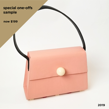 MATTER MATTERS Long Trapezoid Top Handle satchel bag - Blush