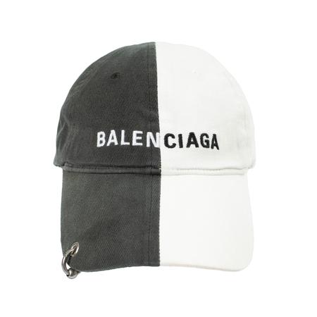 Balenciaga 50/50 Whith Piercing Cap - white/Black