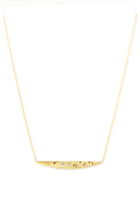 Polly Wales Small swallows dive necklace