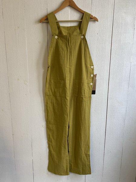 Conrado Nora Overalls - Yellow Cotton/Linen