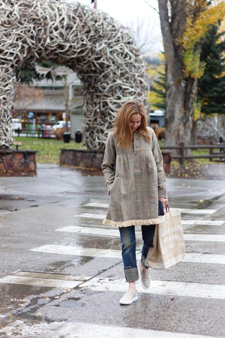 Visvim Nome Harris Tweed Dress - gray