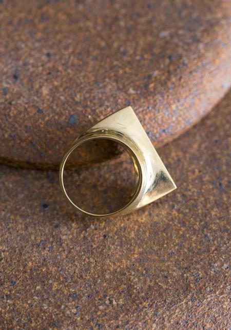 Quarry Brass Toltec Ring