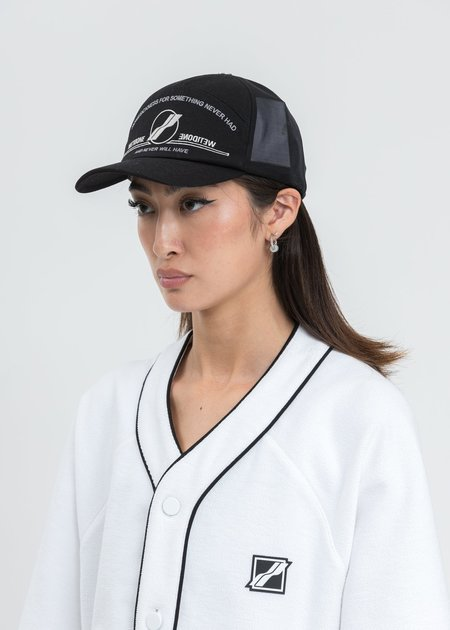 we11done Black Embroidered Sailing Cap