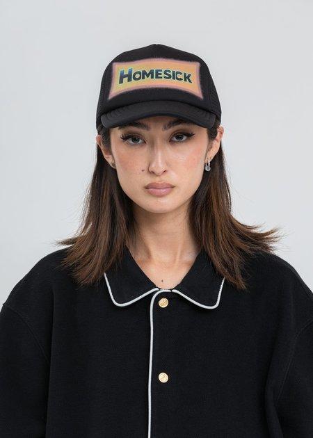 we11done Black HOMESICK Logo Mesh Cap