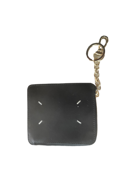 Maison Margiela Zip Wallet with Keychain - Black and Gold