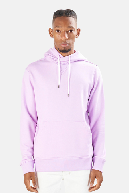 Blue&Cream Sunset Hood Pullover Sweater - Faded Lavender