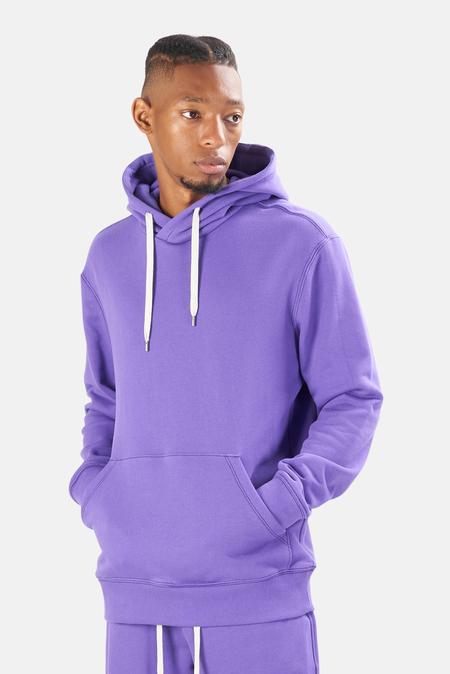 Blue&Cream The Hood Hoodie Sweater - Bright Purple