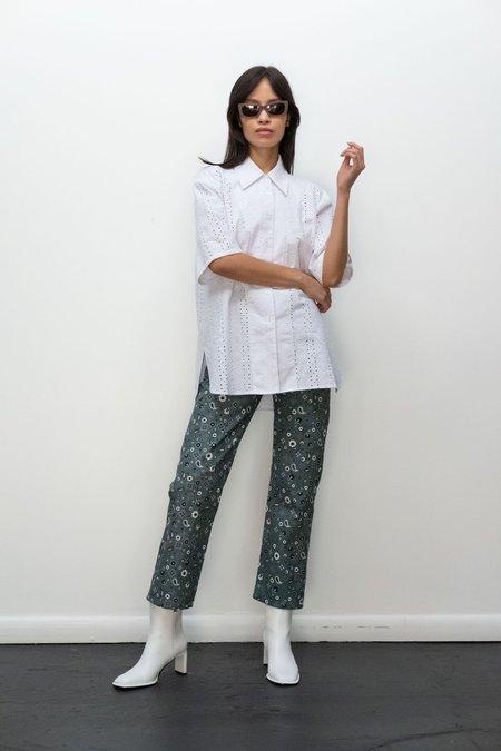 UNISEX KLXTV Patti Shirt - White Embroidered Eyelet