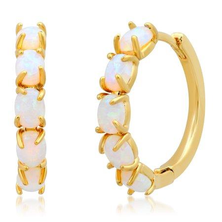 Tai Opal Huggies - Gold/Opal