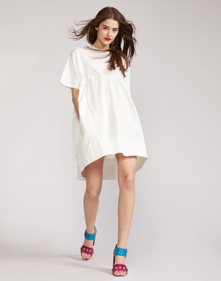 Cynthia Rowley Bree Combo T-Shirt Dress - white