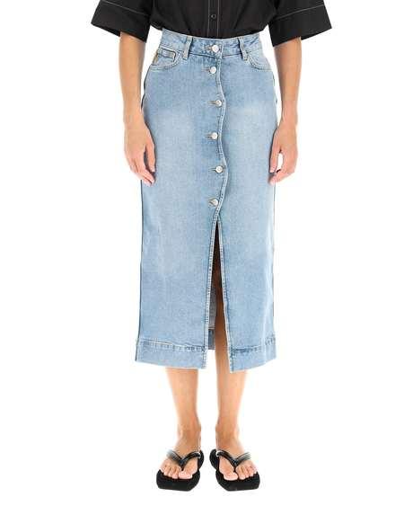 GANNI Denim Skirt - Blue