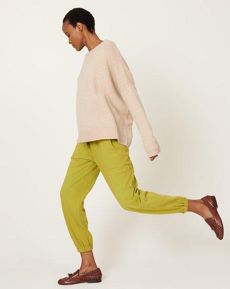 Raquel Allegra Tracker Pant - Chartreuse