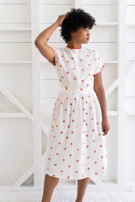 Vintage 1930's Cotton Dress - Polka Dot