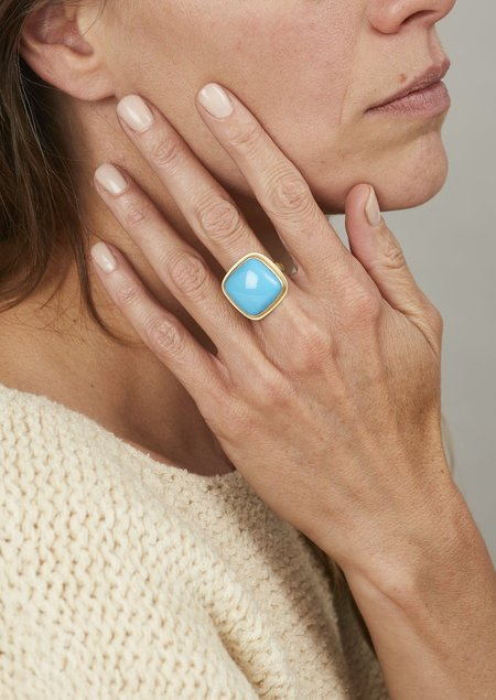 Tony Malmed Jewelry The Sleeping Beauty Square Ring - Turquoise