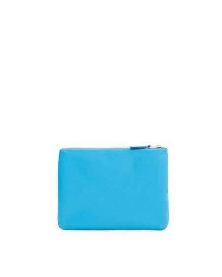 Comme des Garçons Classic Leather Pouch Wallet - Light Blue