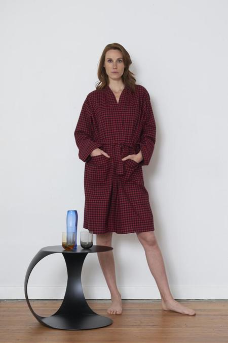 Unisex The Sleep Shirt Robe - Red Buffalo Check