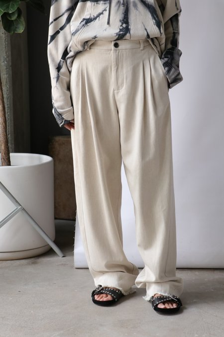 Raquel Allegra Washed Trouser - Natural