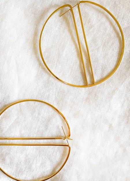 Lila Rice Split Hoops Earrings