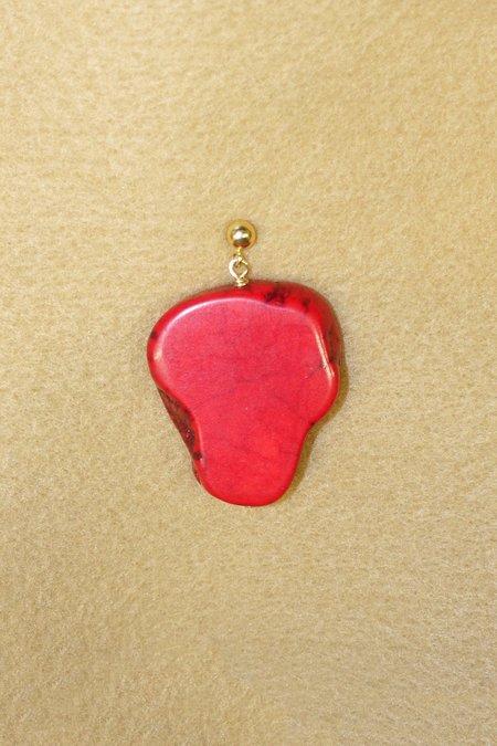 SVNR Lake Bonney Earring - Gold/Red