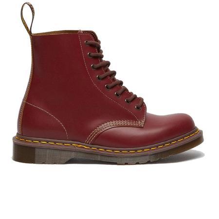 Vintage Dr. Martens 1460 Lace Up Boots - Red Quilon