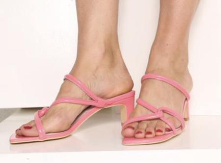 """INTENTIONALLY __________."" SAMPLE Willow sandalss - Bubblegum"