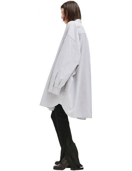 Maison Margiela Grey Cotton Oversize Shirt - gray