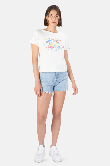 RE/DONE Busiest Woman Classic T-Shirt - Vintage White
