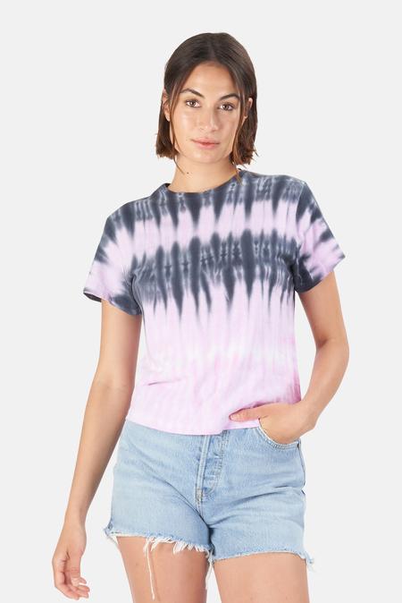 RE/DONE Classic T-Shirt - Blossom Stripe Tie Dye