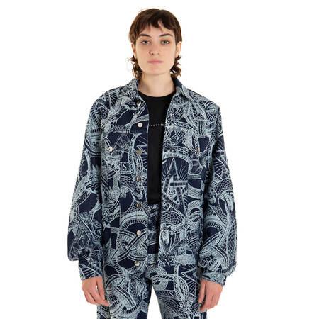 ARIES Snake Trucker jacket - blue