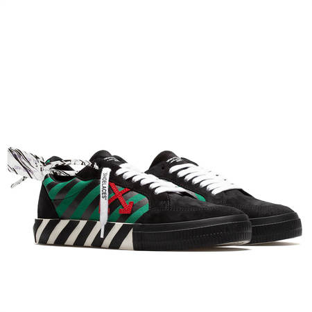 OFF-WHITE Low Vulcanized Diag print sneakers - black